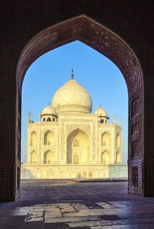 love dome: Taj Mahal in India Stock Photo
