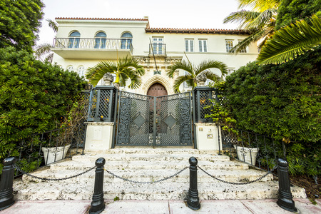 MIAMI, USA - JULY 31:  Versace mansion. In 1997 the world gasped as Gianni Versace was shot to death on the doorstep of his Miami South Beach mansion on July 31, 2013 in Miami, USA.