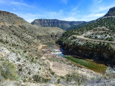 pima: salt river canyon in arizona