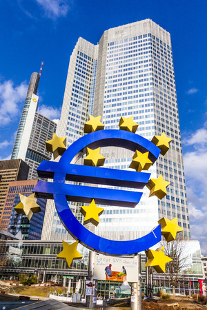 occupy wall street: FRANKFURT - FEBRUARY 24: Euro Symbol at Protest camp of  Occupy movement at the European Central Bank. It is part of the global Occupy Wall Street movement, February 25, 2012 in Frankfurt, Germany. Editorial