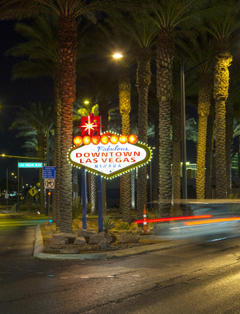 The downtown Las Vegas sign at night photo