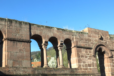 12th century: famous old castle from king Barbarossa, the Kaiserpfalz, Gelnhausen , Germany