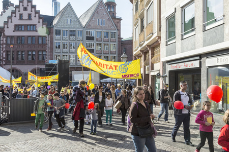 johannes: FRANKFURT, GERMANY - MARCH 29:  children at their first communion call for solidarity with all children in the world on March 29, 2014 in Frankfurt, Germany. They collect money for Misereor and have a celebration at the dome with Johannes zu Eltz.