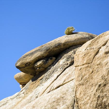 vastness: scenic rocks in Joshua Tree National Park  in Hidden valley Stock Photo