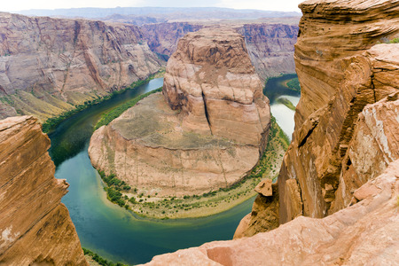 romantic horseshoe bend in page, Arizona, river colorado photo