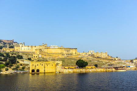 amber fort: Famous Rajasthan landmark - Amer -Amber - fort, Rajasthan, India