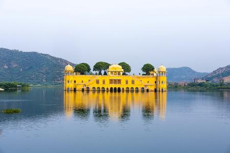 sagar: Water Palace (Jal Mahal) in Man Sagar Lake. Jaipur, Rajasthan, India