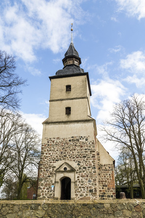 reprimanding: old church in the small village  in Usedom Stock Photo