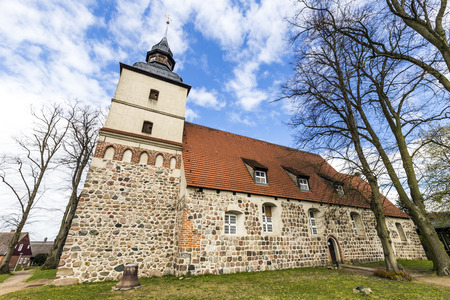 reprimanding: old church in the small village in Usedom