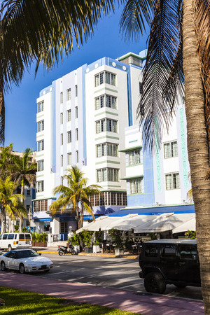 MIAMI, USA - JULY 31: midday view at Ocean drive on July 31, 2010 in Miami, Florida. Art Deco architecture in South Beach is one of the main tourist attractions in Miami.
