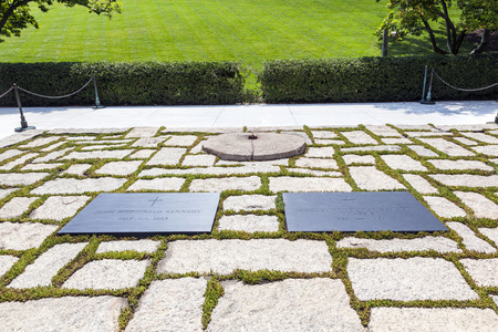 WASHINGTON DC - JUL 15: the eternal flame at President Kennedys memorial on July 15, 2010 in Washington DC, USA.