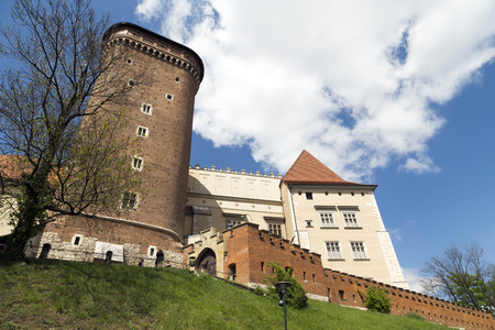 Wawel Castle on sunny day in Krakow, Poland