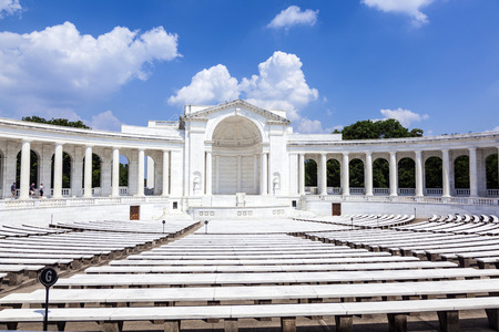 WASHINGTON DC - JUL 15: Memorial Amphitheater at Arlington National Cemetery on July 15,2010 in Washington DC, USA. The memorial is visited by thousand of americans weekly.