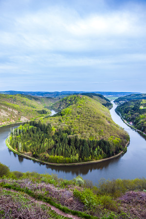 saar: Saar loop at Mettlach. A famous view point.