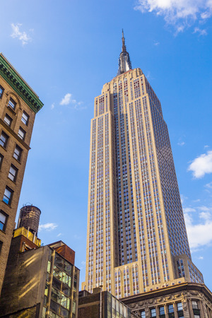 empire state building: NEW YORK - USA, JULY 11, 2010: facade of Empire State Building  in New York City. After the terrorist attack on 91101, this is the tallest building in New York and 3rd in USA. Editorial