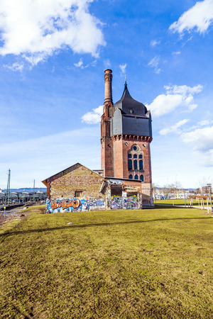felix: WIESBADEN, GERMANY - FEB 27, 2010: old historic watertower build of bricks in Wiesbaden, Germany. The water tower was built in 1895 by Felix Genzmer and is nowadays a cultural meeting point. Editorial