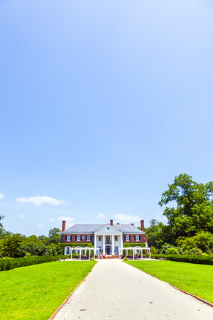 MOUNT PLEASANT, USA - JULY 21, 2010: Boone Hall Plantation and Gardens in Mount Pleasant, USA. The House was built in 1933 in colonial revival style and is listed in the National Register of Historic places.