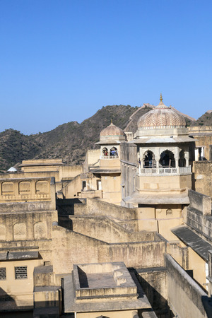 jagmandir: Amber Fort in Amber,India. Constructed by Raja Man Singh I in 1592 , the fort was made in red sand stone and white marble. Editorial