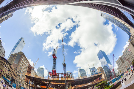 NEW YORK, USA - JULY 9: view of buildings and construction work on Ground Zero,rebuilding the site on July 9, 2010, New York