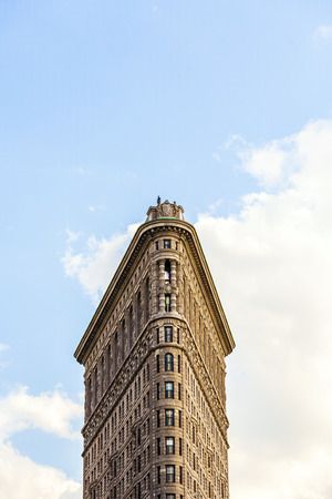 groundbreaking: NEW YORK, USA - JULY 12, 2010: The Flatiron building in New York,USA. Considered a groundbreaking architectural feat, it was completed in 1902.
