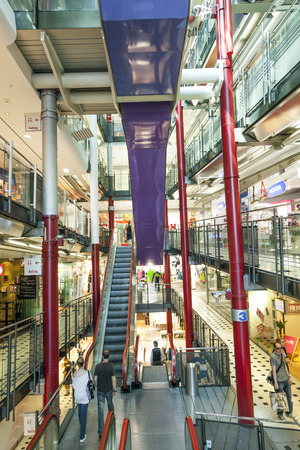 FRANKFURT, GERMANY - AUGUST 21, 2010: Inside the Zeilgalerie in Frankfurt, Germany. The Zeilgalerie opened in 1992 and was managed by Juergen Schneider who went insolvent. Sajtókép