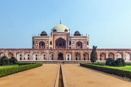 declared: Tomba di Humayun a Delhi, in India. La tomba � stata dichiarata Patrimonio dell'Umanit� dall'UNESCO nel 1993.