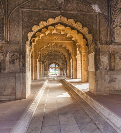 private i: Hall of Private Audience or Diwan I Khas at the Lal Qila - Red Fort in Delhi, India