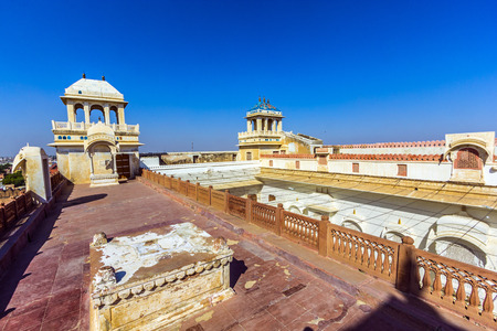 Junagarh Fort in city of Bikaner rajasthan state in india