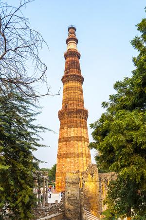 quitab: Qutub Minar Tower or Qutb Minar, the tallest brick minaret in the world , Delhi India. Editorial