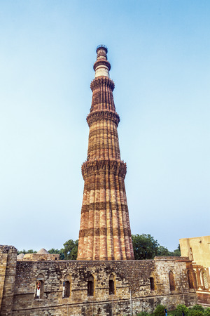 quitab: Qutub Minar Tower or Qutb Minar, the tallest brick minaret in the world , Delhi India. Editorial
