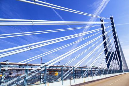 industrie: bridge of an Industry Park in beautiful landscape near Frankfurt