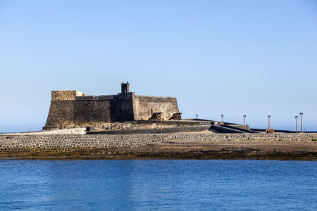 gabriel: castle Castillo de San Gabriel in Arrecife, Lanzarote, Canary Islands