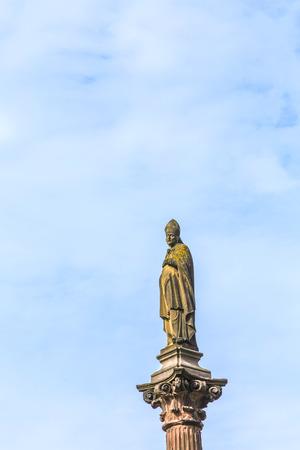 freiburg: statue of bishop in freiburg Editorial