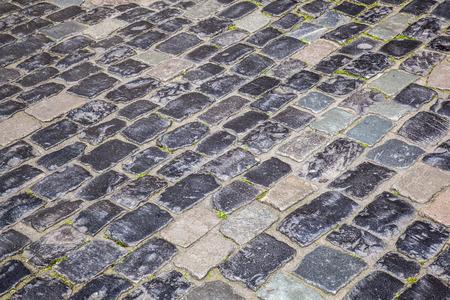 cobble: vecchia strada in pietra, affastellate Heidelberg