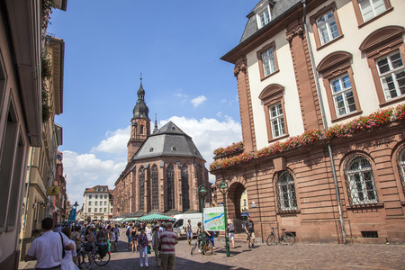 mentioned: HEIDELBERG, GERMANY - JULY 6, 2013: Church of the Holy Spirit in Heidelberg, Germany . The Church of the Holy Spirit is first mentioned in 1239.