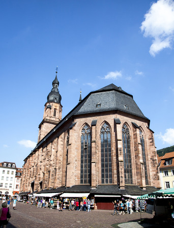mentioned: HEIDELBERG, GERMANY - JULY 6, 2014: Church of the Holy Spirit in Heidelberg, Germany . The Church of the Holy Spirit is first mentioned in 1239.