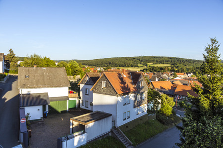 timbered: small village of Brandoberndorf with half timbered houses