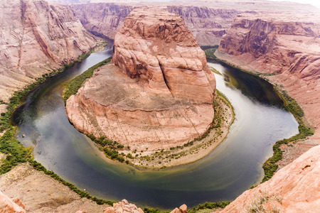 romantic horseshoe bend in page, Arizona, river colorado photo