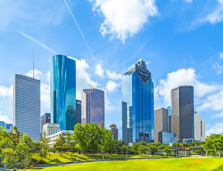 Skyline of Houston, Texas in daytime