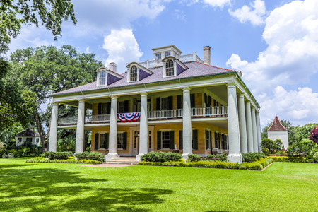 DARROW, USA - JULY 14, 2013: famous Houmas House plantation in Darrow, USA. Irishman John Burnside bought the plantation in 1857 for USD 1 million. Editorial