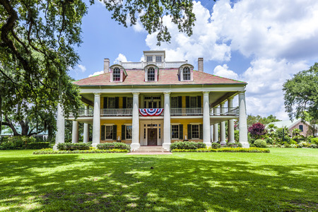 DARROW, USA - JULY 14, 2013: famous Houmas House plantation in Darrow, USA. Irishman John Burnside bought the plantation in 1857 for USD 1 million. Editorial