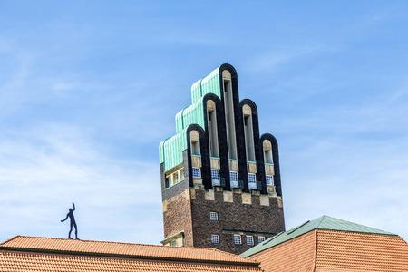 Hochzeitsturm tower at Kuenstler Kolonie artists colony in Darmstadt Germany Standard-Bild