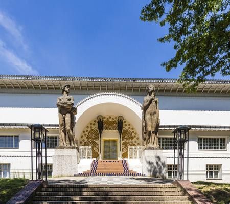 applied: Ernst Ludwig Haus at Kuenstler Kolonie artists colony in Darmstadt Editorial