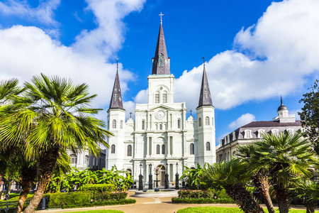 louis: Beautiful Saint Louis Cathedral in the French Quarter in New Orleans, Louisiana.