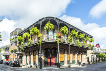 historic building in the French Quarter 스톡 콘텐츠