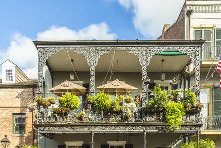 historisch gebouw in de Franse wijk in New Orleans, Verenigde Staten