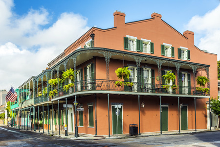 old quarter: historic building in the French Quarter in New Orleans, USA