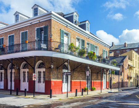 bourbon street: historic building in the French Quarter in New Orleans, USA