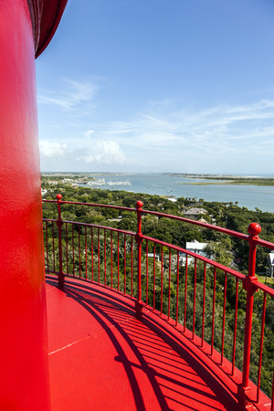 SANKT AUGUSTINE, USA - JULY 24, 2014: view from beautiful lighthouse in Sankt Augustine, USA.