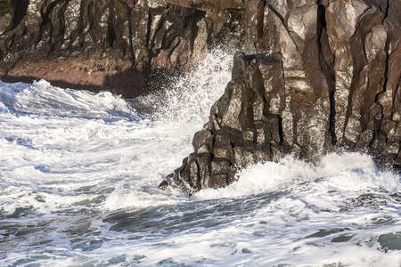 los hervideros: waves at the stormy coast of Lanzarote Stock Photo